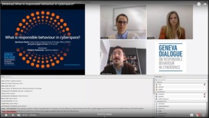 Webinar on responsible behaviour in cyberspace