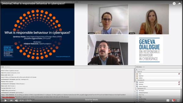 Webinar on responsible behaviour in cyberspace